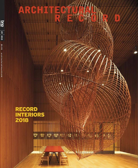Rustic Townhouse by 4|MATIV.   ARCHITECTURAL RECORD. September 2018 Issue.  Diana Mosher.