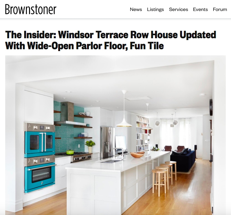 The Insider: Windsor Terrace Row House Updated With Wide-Open Parlor Floor, Fun Tile.   Brownstoner. Cara Greenberg.