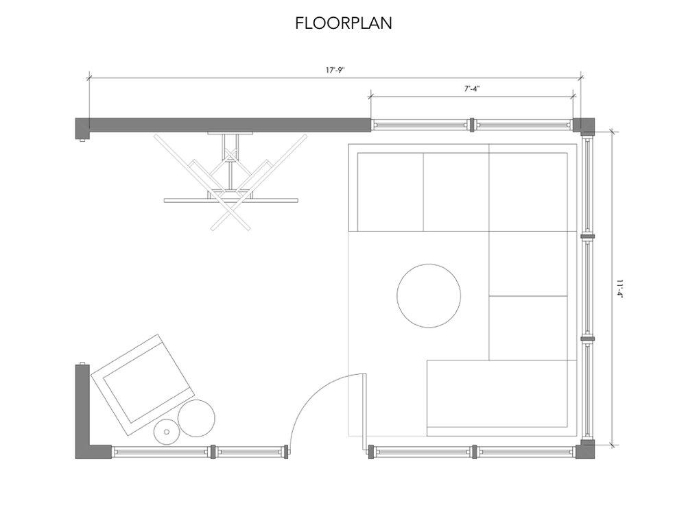 CAD Floorplan - Sunroom design