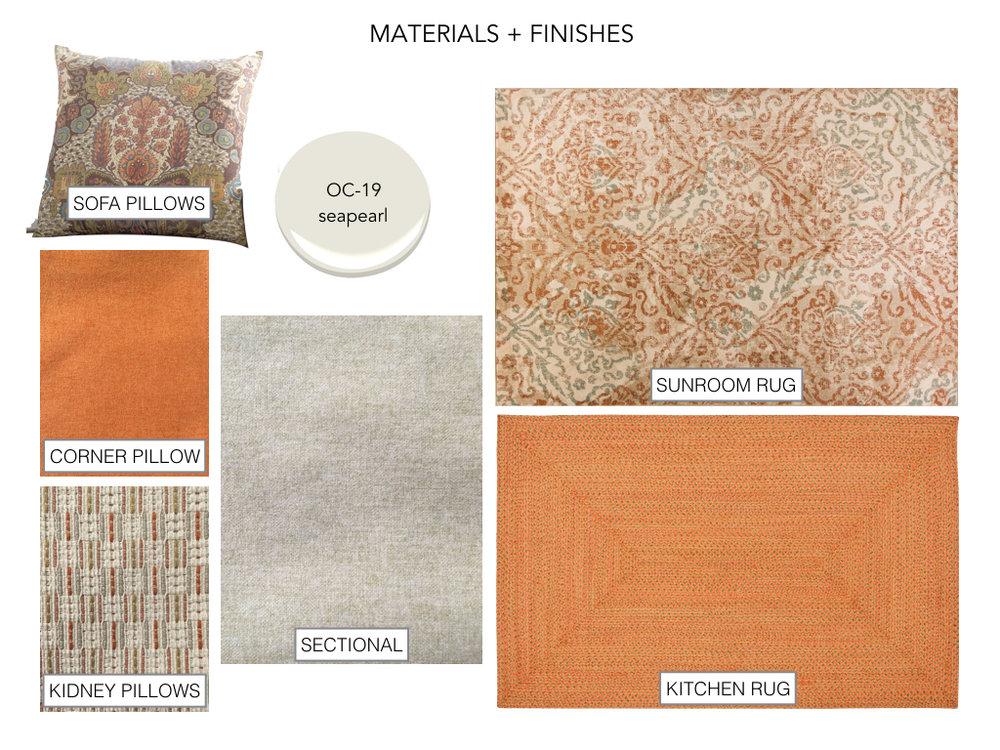 Materials + Finishes Board - Sunroom design