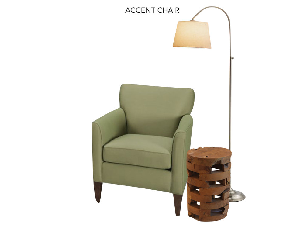 Accent Chair, Table and Lamp Close Up - Sunroom design