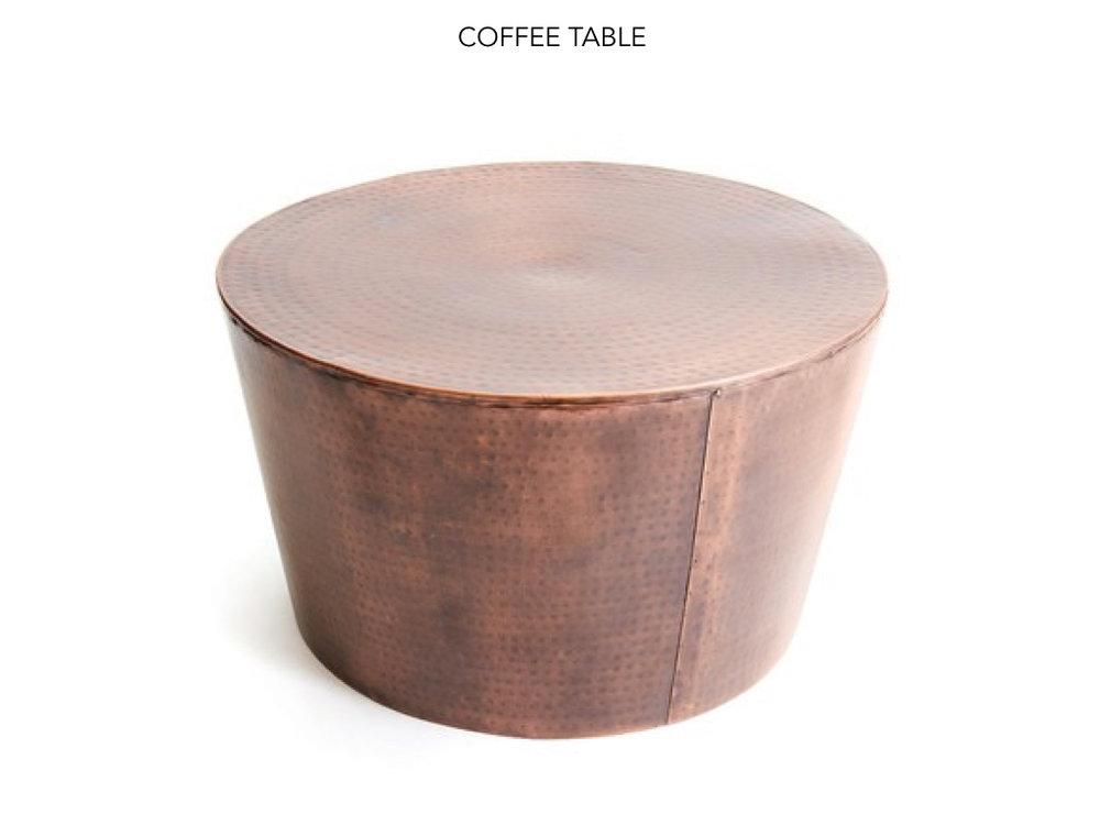 Coffee Table Close Up - Sunroom design