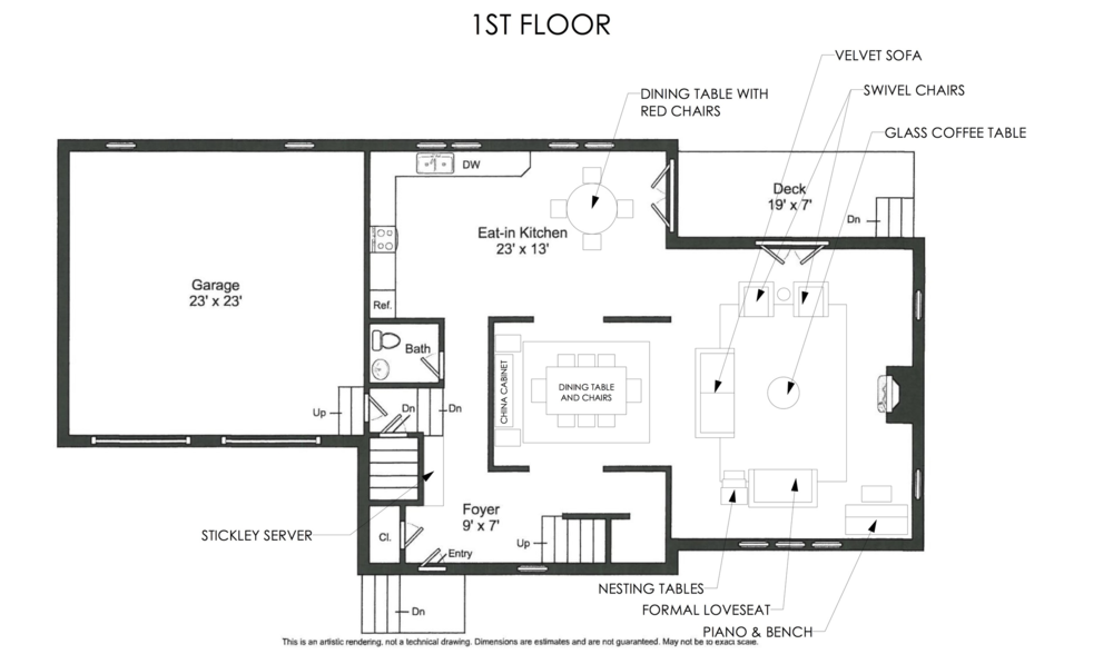 1st Floor Moving Plan