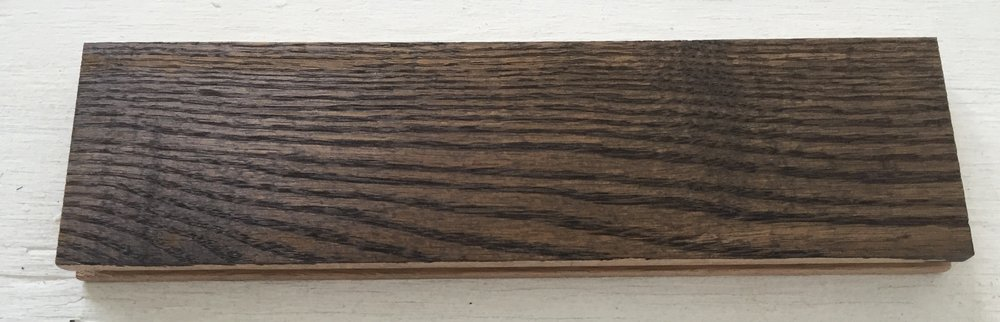 Wood Sample - Red Oak - 1 coat of Minwax Jacobean 2750