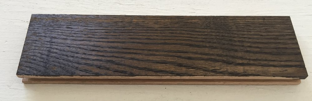 Wood Sample - Red Oak - 2 coats of Minwax Jacobean 2750