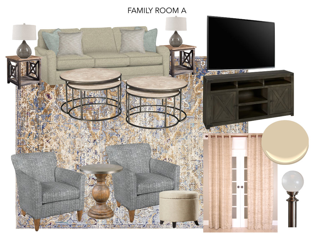 Living Room Design Option A