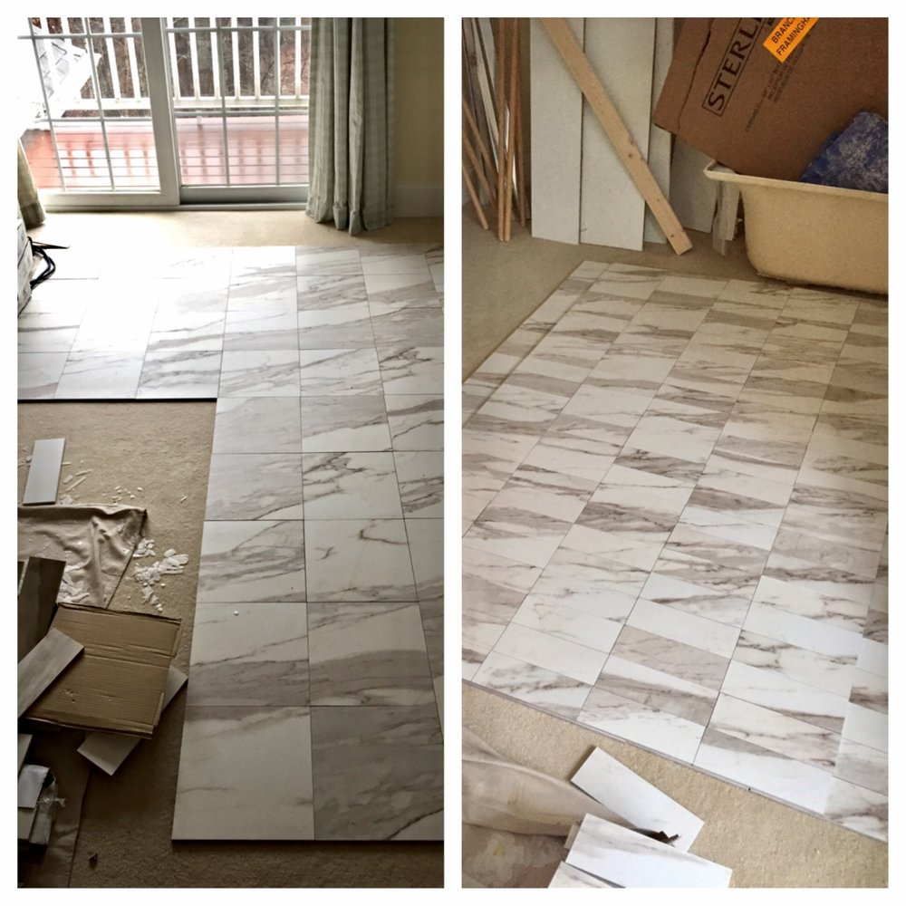 Tile Layout for a client in Concord, MA