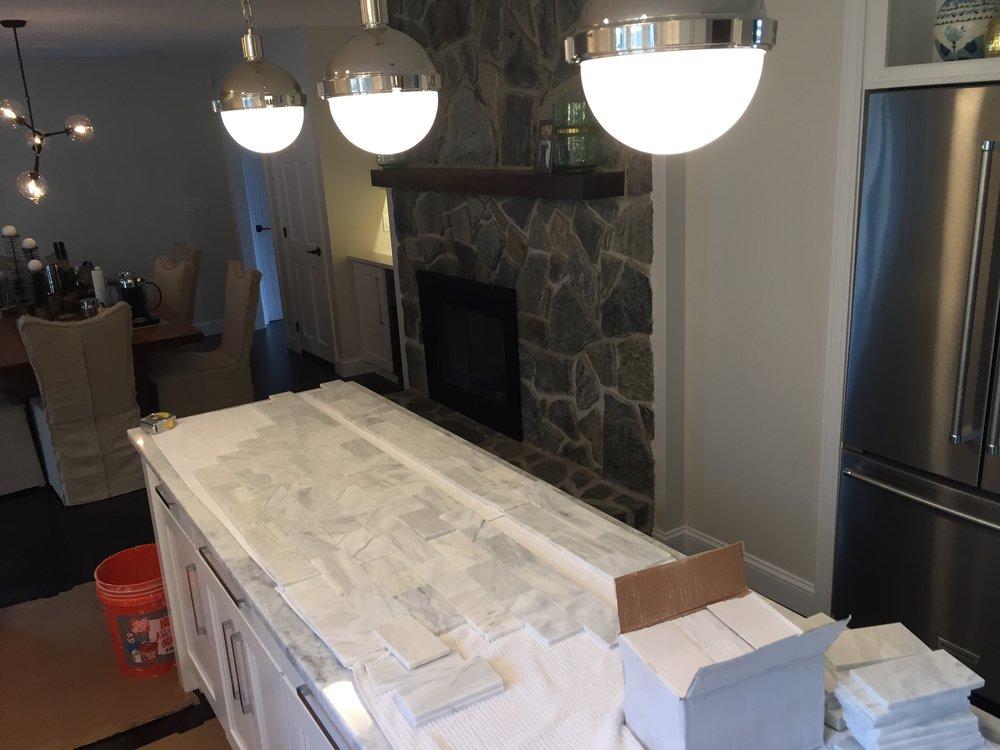 Bianco Marble Subway Tile