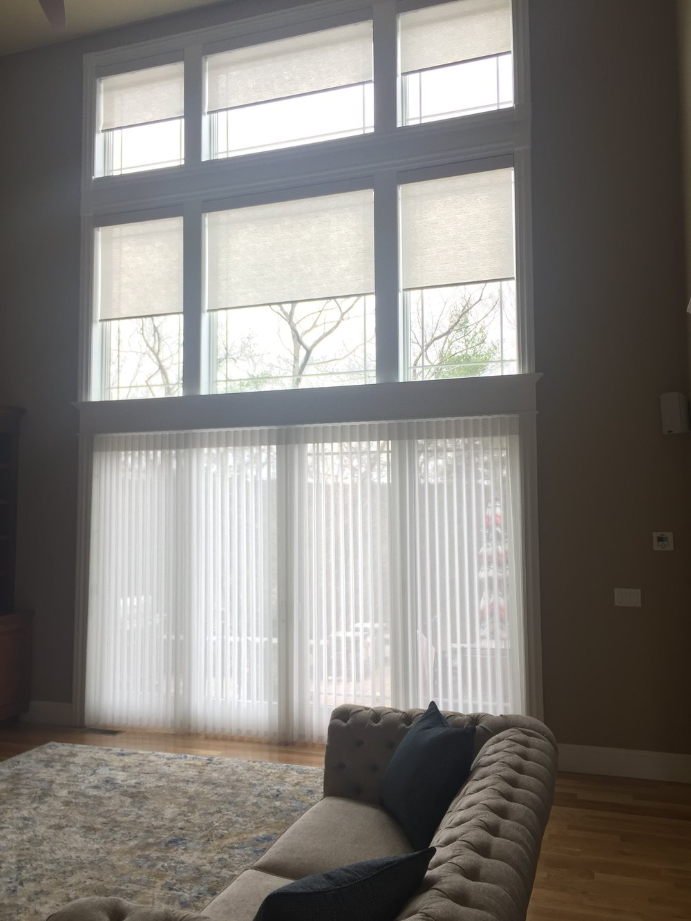 Custom Window Treatments - Family Room Design - Bolton, MA