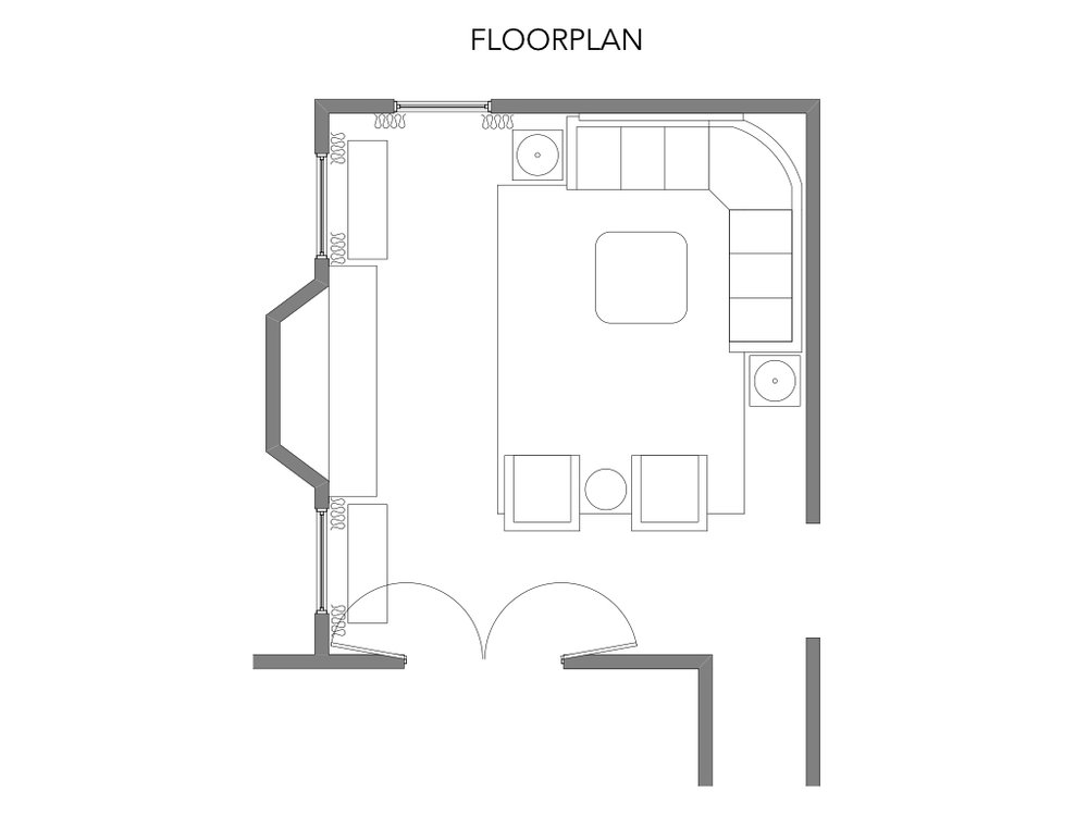 Family Room Floorpan - Dunstable, MA