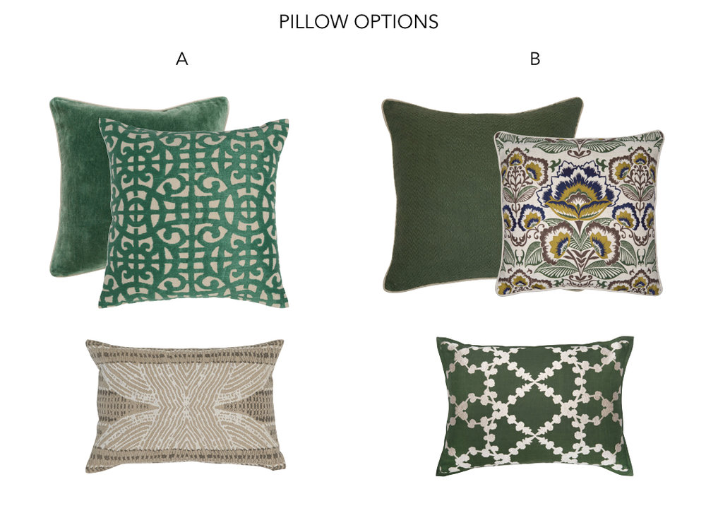Pillow Options - Interior Design - Dunstable MA