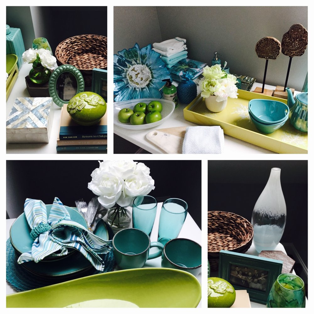 Rustic Beach - Turquoise & Lime