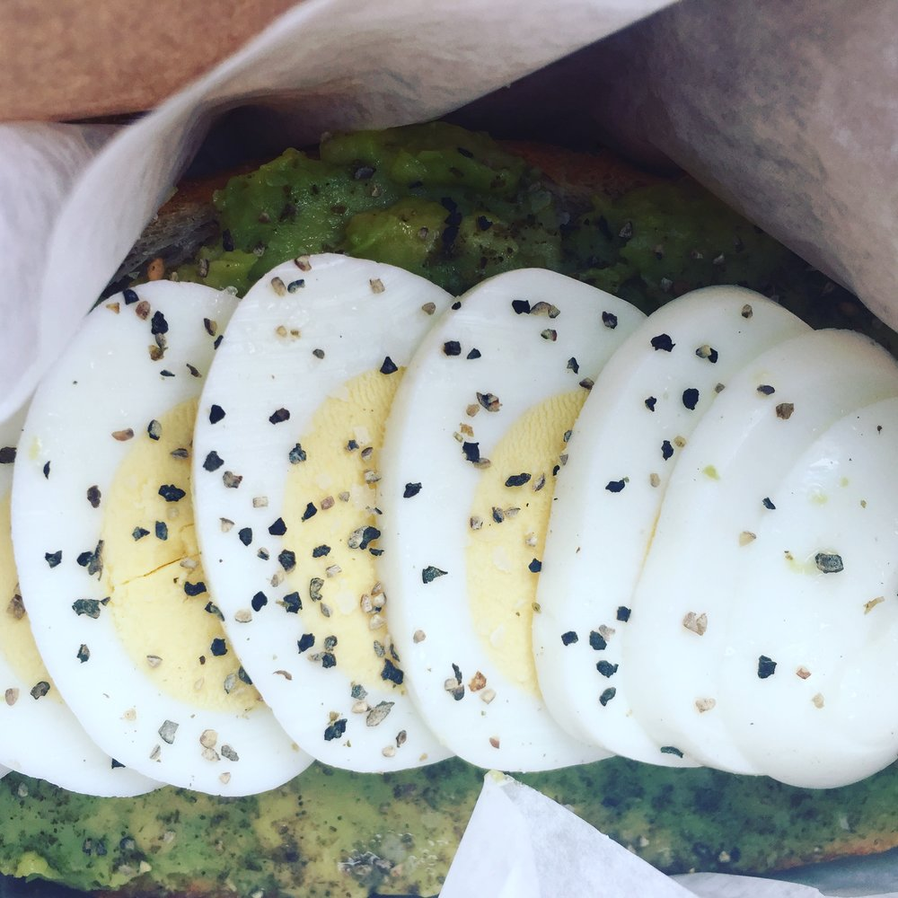 YUMM! Avocado toast - a true California breakfast