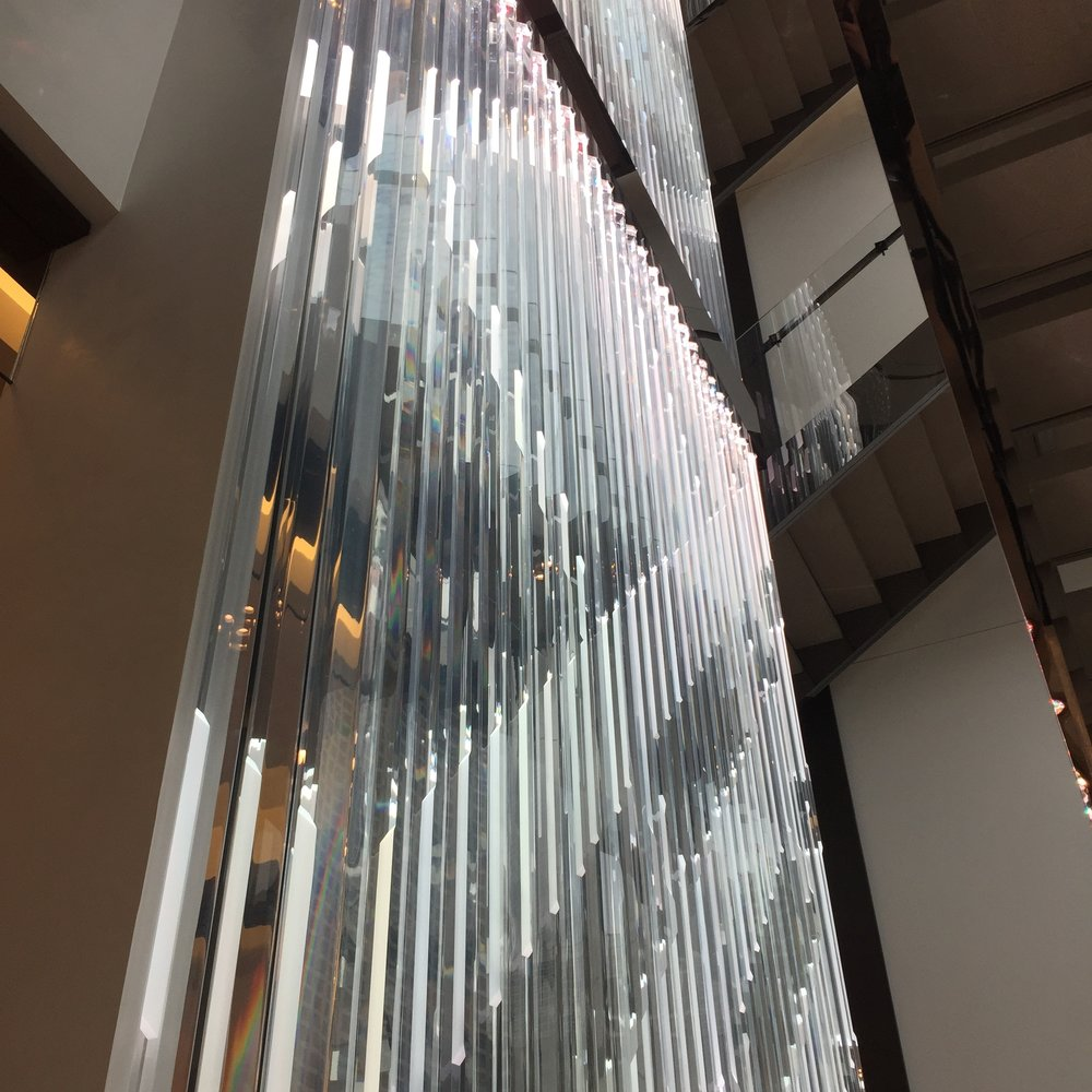 Interior - 5 stories of glass dividing wall