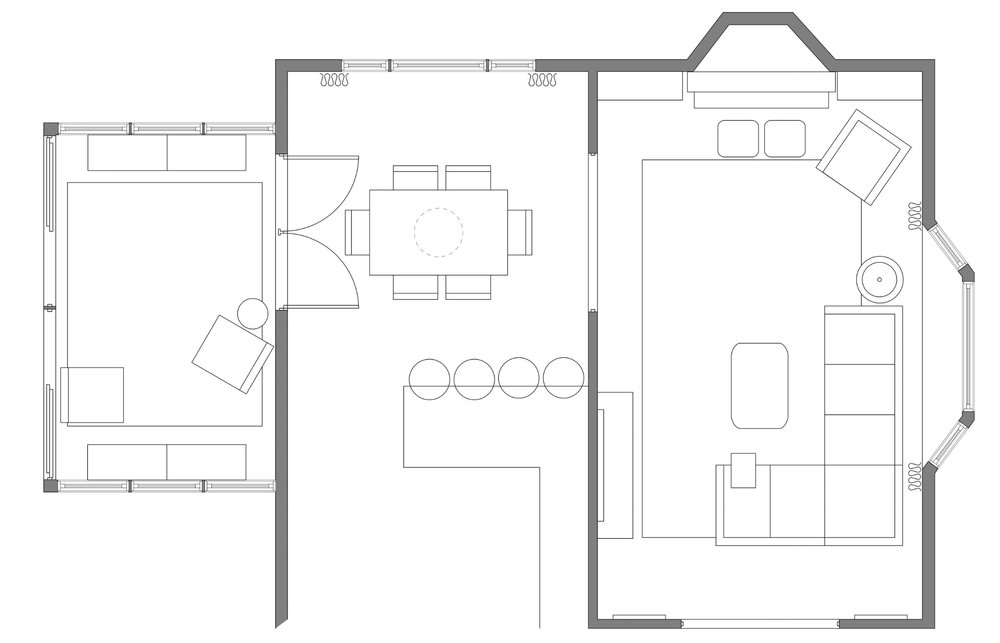 Family Room Design - Lexington, MA