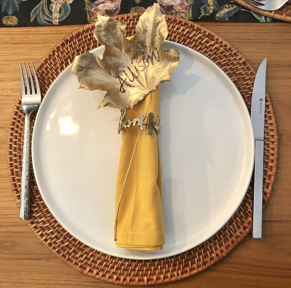 Thanksgiving Dining Tablescape