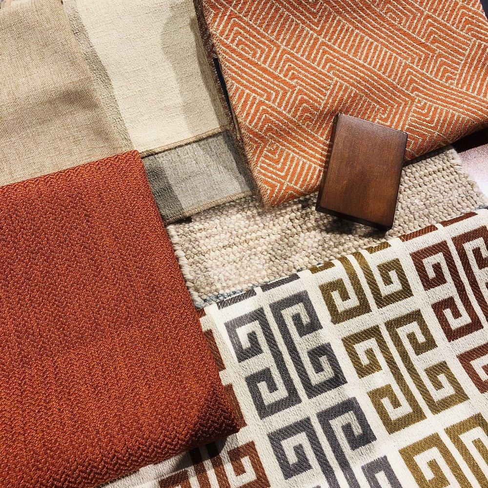 Beige, Gray & Orange Color Scheme