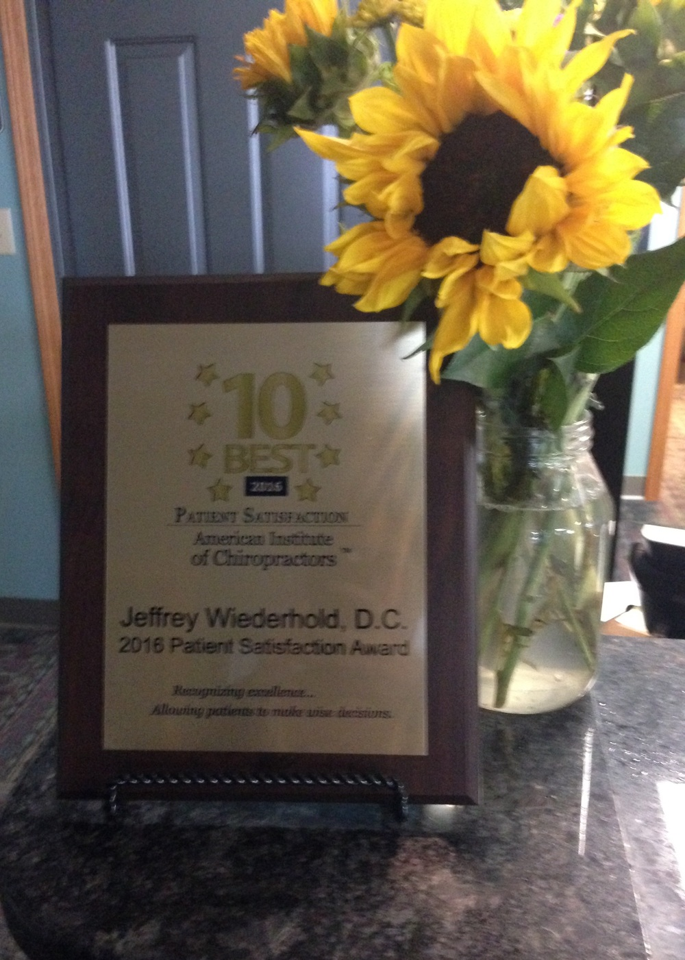 Top 10 Best Chiropractor in the state of Michigan awarded to Jeffrey Wiederhold DC
