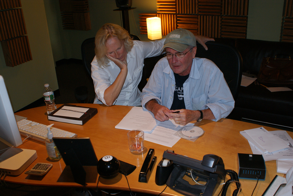 Director Robert Bilheimer with Narrator Glenn Close, Soundtrack Boston Recording Studio
