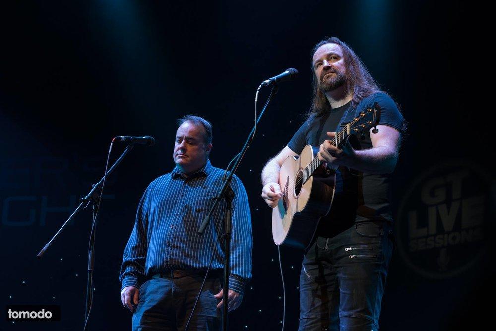 Damian Wilson with Paul Jude Wilson ...