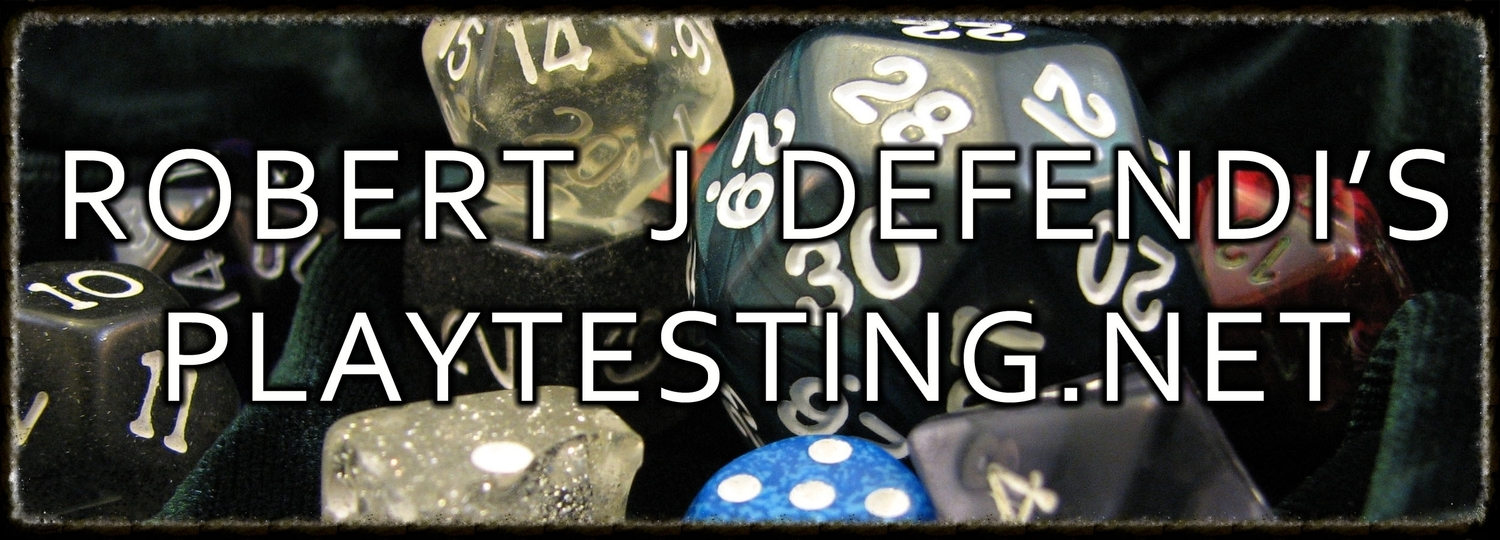 Robert J Defendi's Playtesting.net