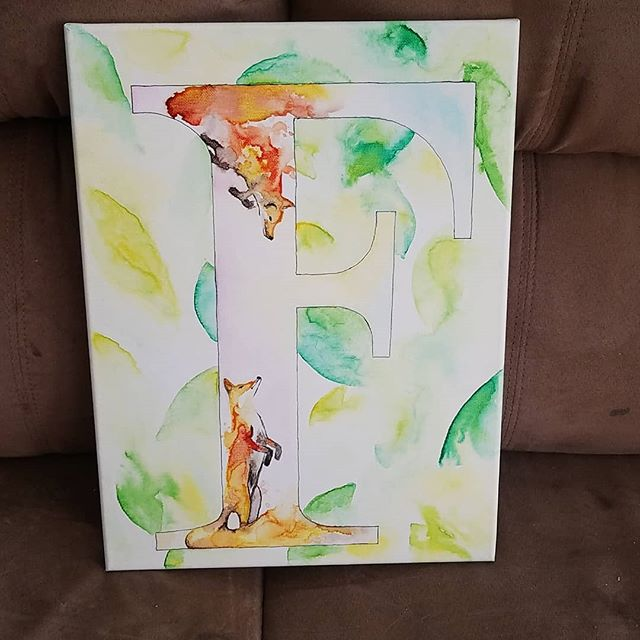 Check out this painting my good friend Bryanna created for my little Finlay's Birthday!