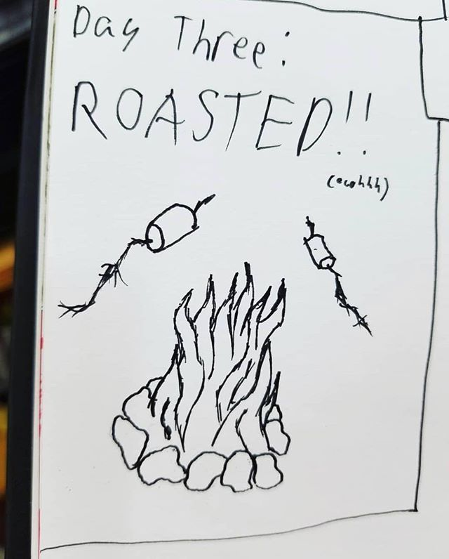 Artwork by @rothgows_art #inktober #inktober2018 #art #artwork #artist #roasted #drawing #drawing #doodle #penandink