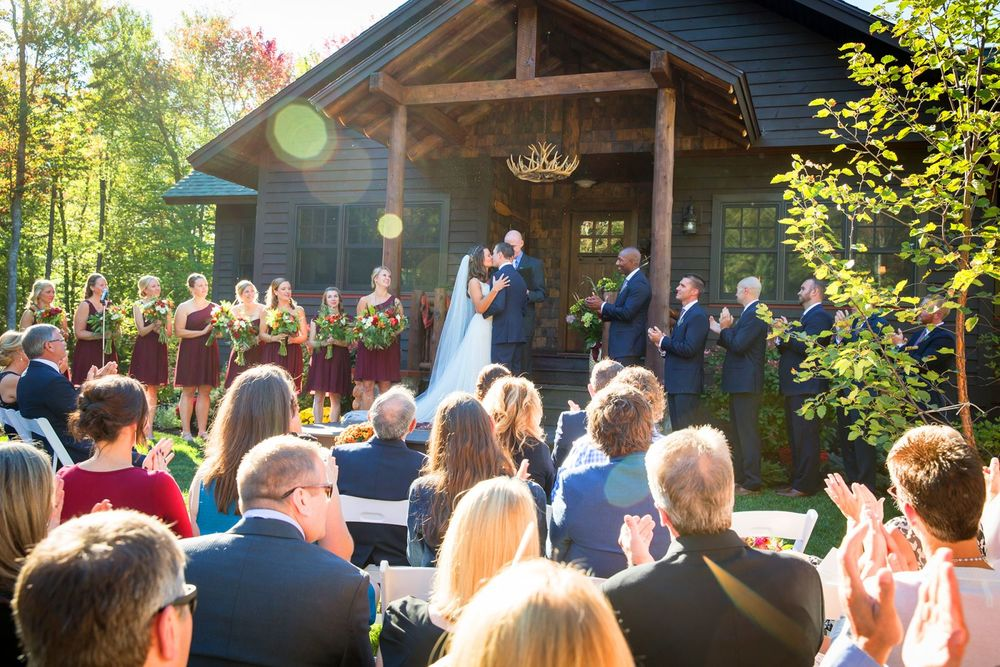 Meg & Matt's Tupper Lake Woodland Wedding. Image courtesy of (c) Jeffrey Foote Photography
