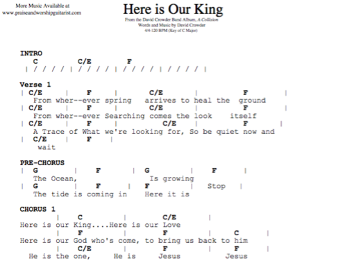 David Crowder Band Here Is Our King Praise Worship Guitarist
