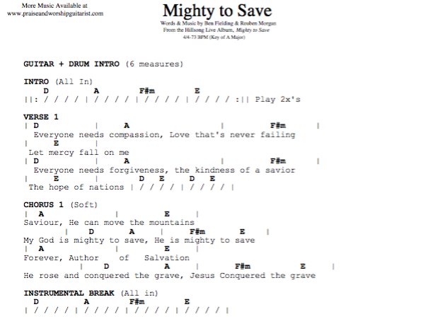 Hillsong United: Mighty to Save — Praise & Worship Guitarist