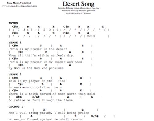 Hillsong United Desert Song Praise Worship Guitarist