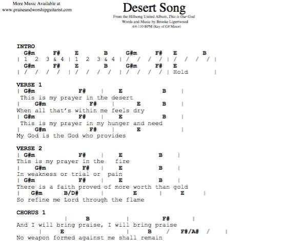 Desert Song: G# Minor — Praise & Worship Guitarist