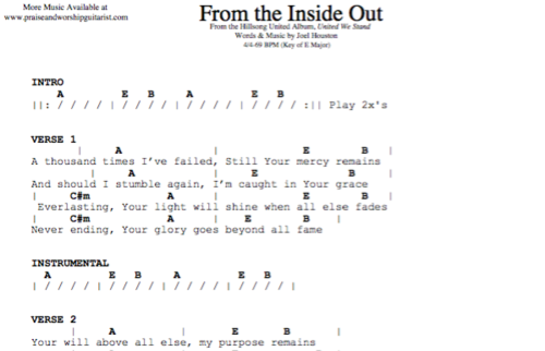 Hillsong United: From the Inside Out — Praise & Worship Guitarist