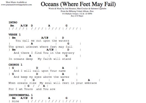 Oceans Chords Pdf Dolapgnetband