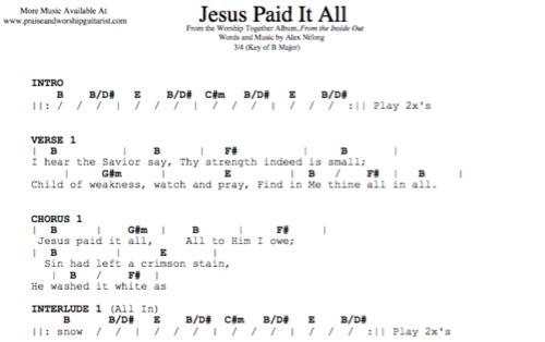 Kristian Stanfill: Jesus Paid It All — Praise & Worship Guitarist