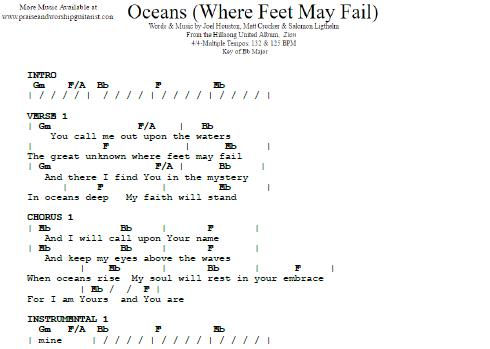 Hillsong United: Oceans — Praise & Worship Guitarist