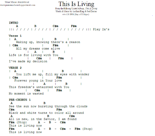 Hillsong Y&F: This Is Living — Praise & Worship Guitarist