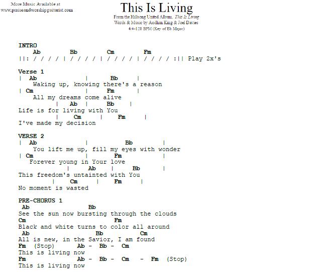 This Is Living E Flat Major Praise Worship Guitarist