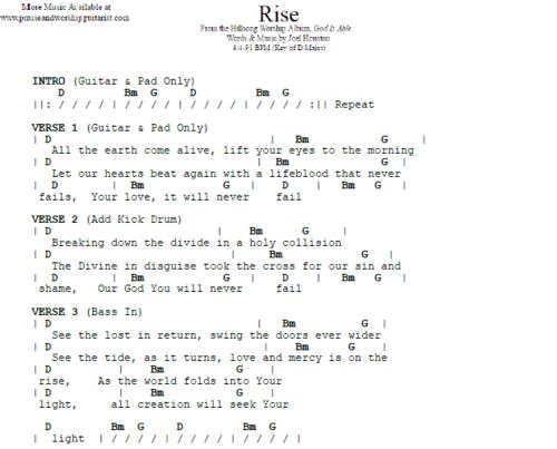 Hillsong United Rise Praise Worship Guitarist