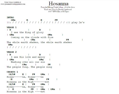 Hillsong United Hosanna Praise Worship Guitarist