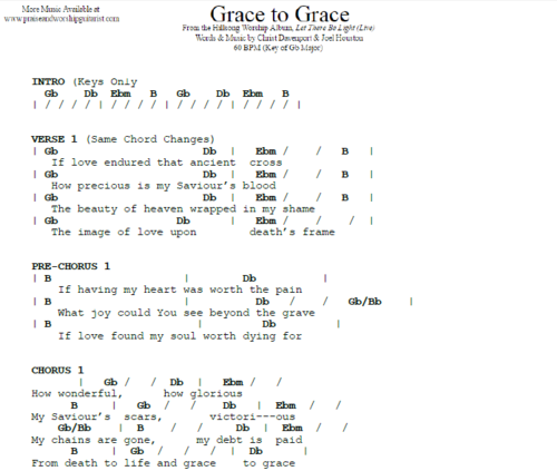 Hillsong United Grace To Grace Live Praise Worship Guitarist