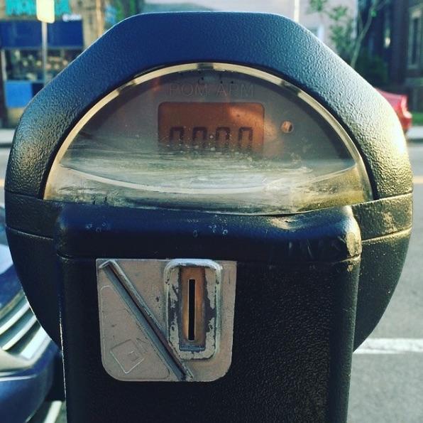 Parking meter in Cambridge, Massachusetts.