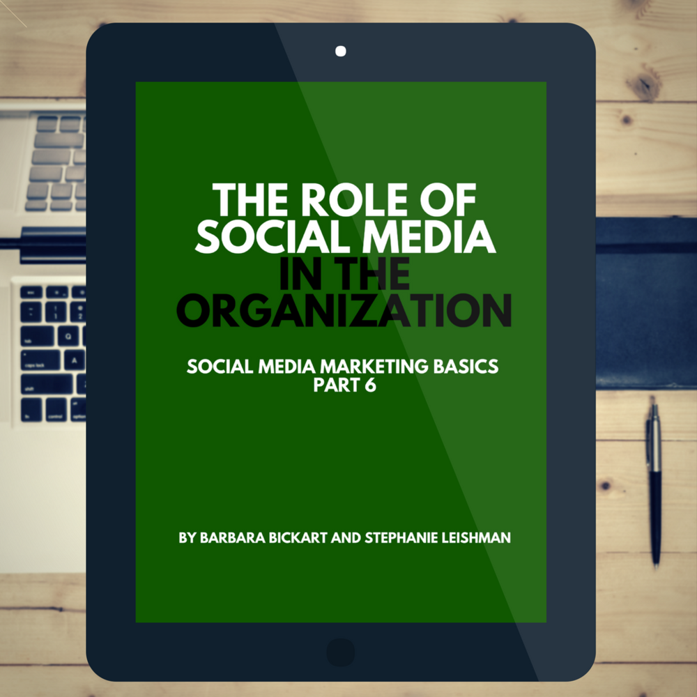 The Role of Social Media in the Organization: Social Media Marketing Basics, Part 6 by Barbara Bickart and Stephanie Leishman