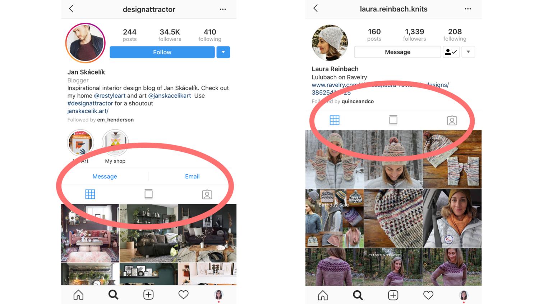 Instagram new profile design