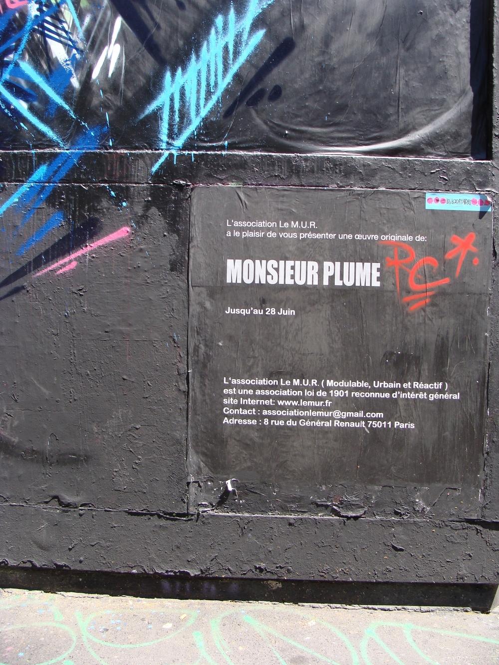 Juin 2014 - Paris - Le Mur