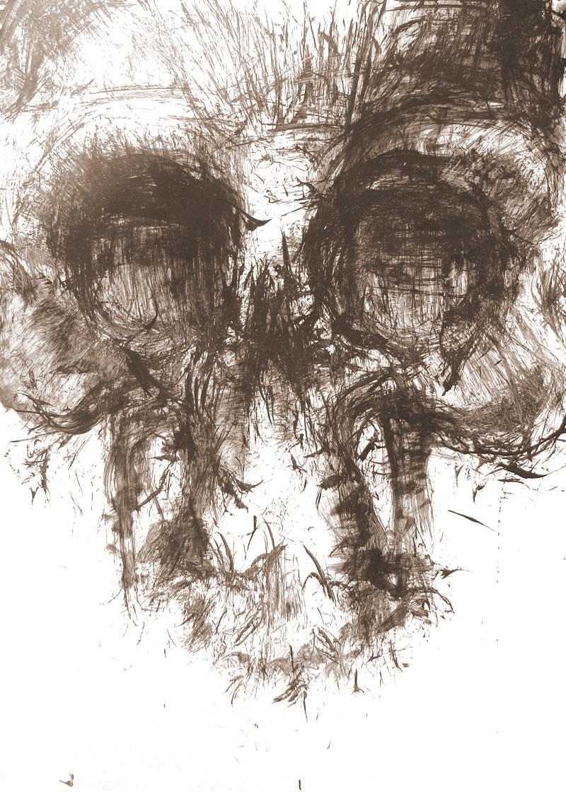 Février 2012 - Encre sur affiche - 70 x 100 - Dead Head One