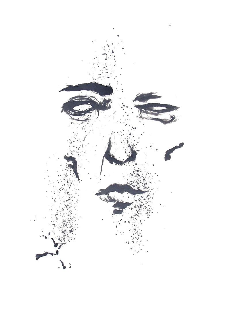 Février 2012 - Encre sur affiche - 70 x 100 - Encre 3