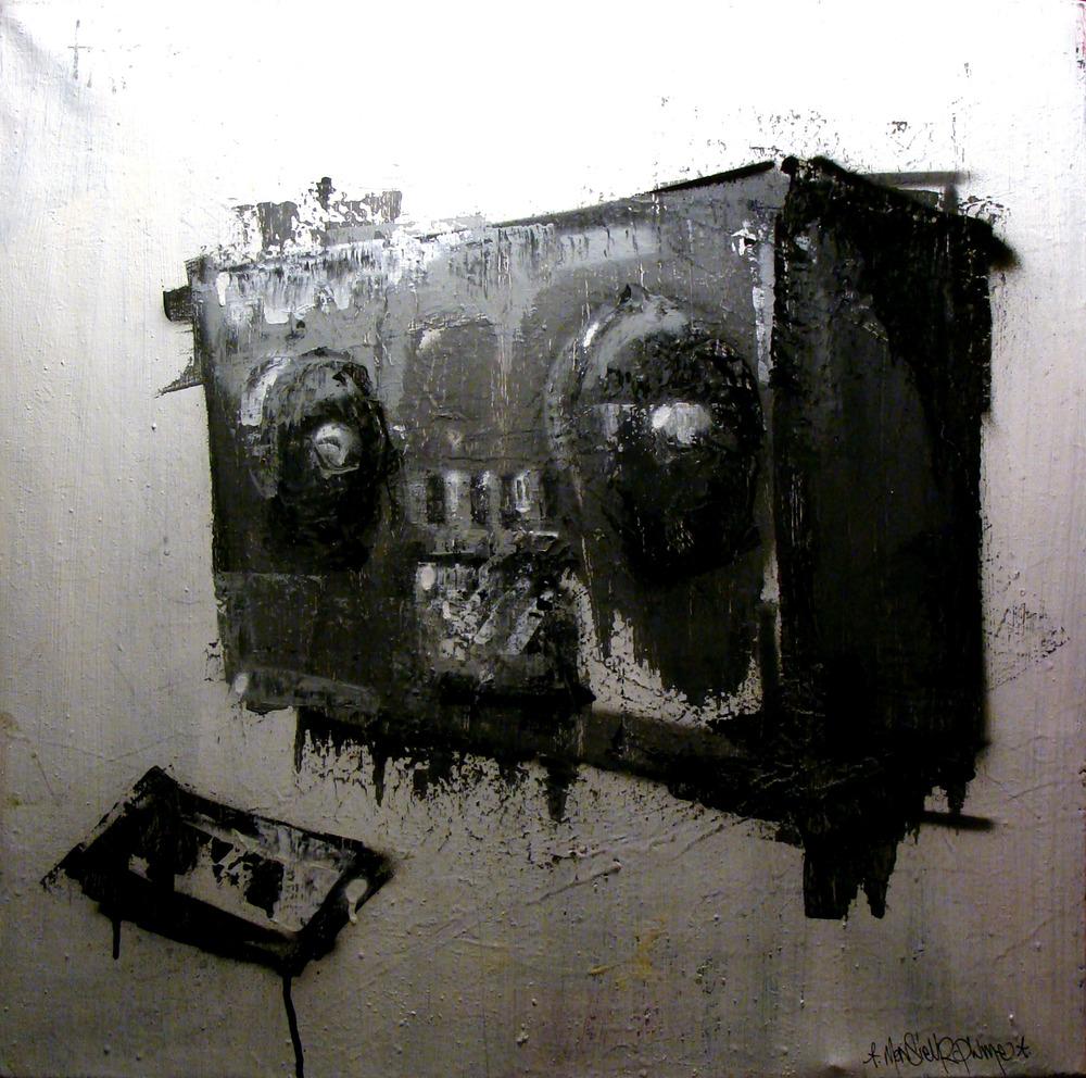2011 -  Technique mixte sur toile - Ghetto Blasé