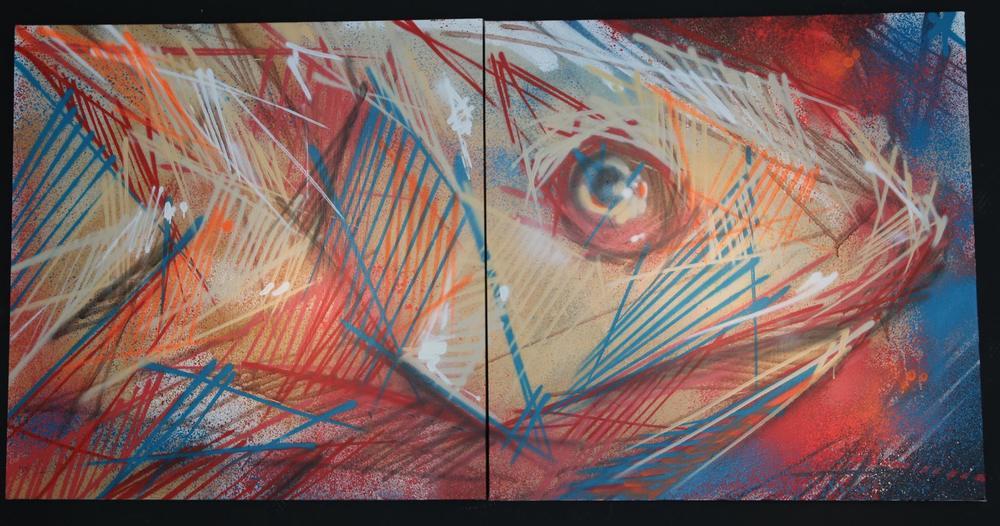 2015 -  Aérosol sur toile, diptyque