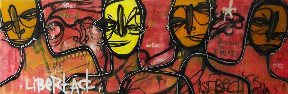 2007 - Technique mixte sur toile - Libertad